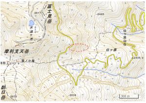 乗鞍岳・地形図(国土地理院)