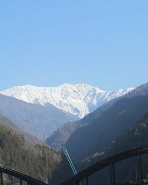 大鹿村からの赤石岳