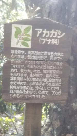 小笠山の直下に立っていた案内板